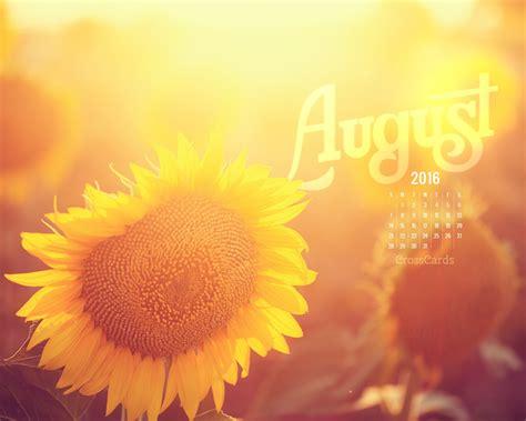august 2016 sunflower desktop calendar free august