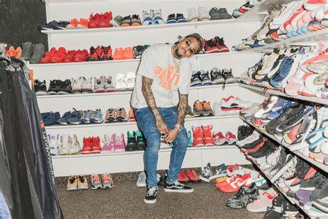 sneaker collector chris brown for complex closets complex