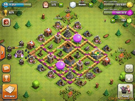 layout level 6 town hall town hall level 6 layout www imgkid com the image kid