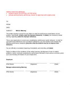 employee warning template warning letter template 9 free word pdf document