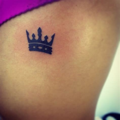 small crown tattoos for girls small crown inked tattos