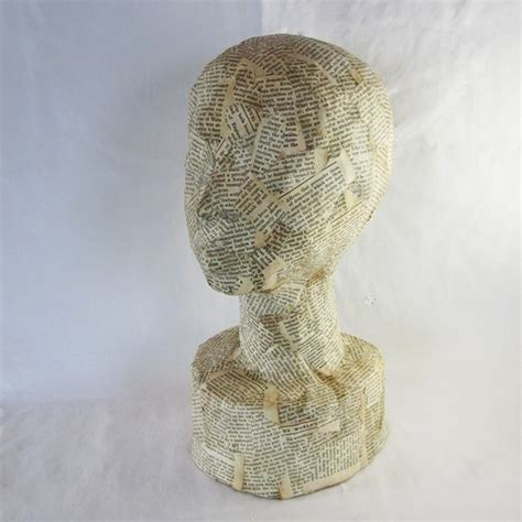 How To Make A Paper Mache Bust - paper mache bust craft booth