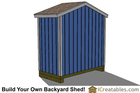 8x4 backyard shed plans icreatables