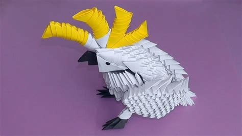 Origami Parrot Tutorial - 3d origami cockatoo parrot tutorial
