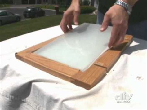 How To Insert Glass In Cabinet Doors Cabinet Doors Diy