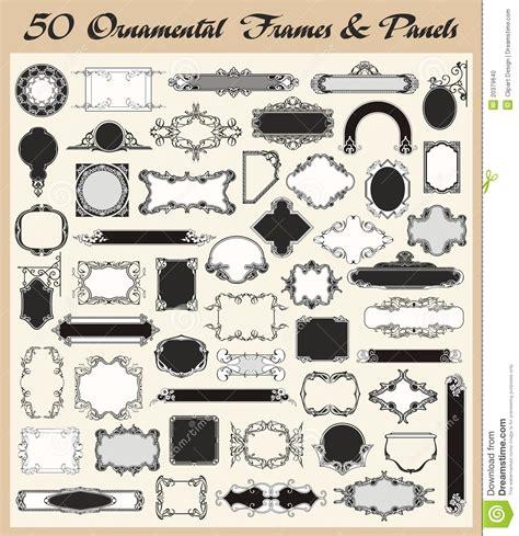 set houses drawings stock photo photo vector illustration vintage ornamental frames and panels vector set stock