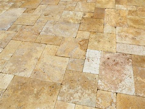 installing french pattern travertine tiles waller gold french pattern deck contemporary ta