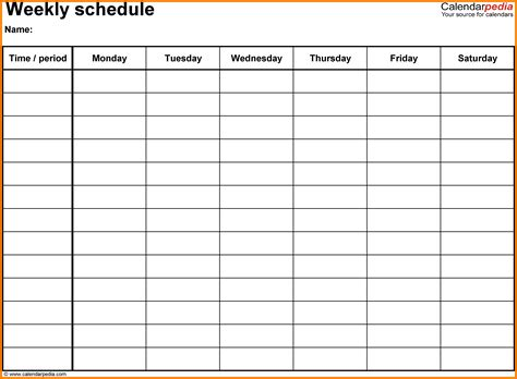 time schedule chart template 6 time schedule chart xavierax