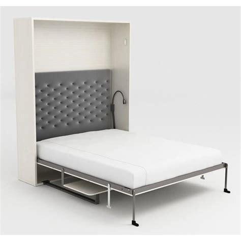 Armoire Lit Escamotable Stone 160x200 Blanc Bureau Achat Lit Bureau Escamotable