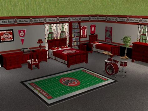 ohio state bedroom mod the sims ohio state buckeyes bedroom for osubucksgurl04