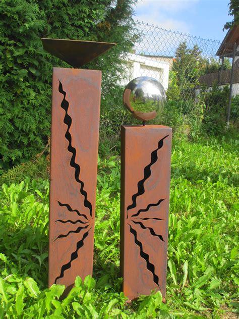 Garten Deko Rost by 363 Rost S 228 Ulen 80 Cm 60 Cm Mit Vogeltr 228 Nke Und Kugel