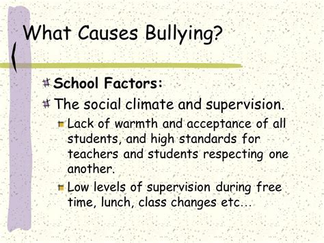 Bullying Causes by Bullying In School What You Need To Ppt