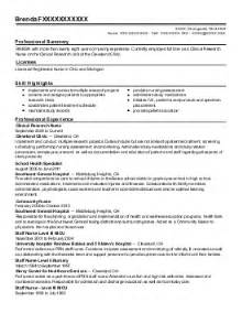 rn field staff manager resume exle precise home