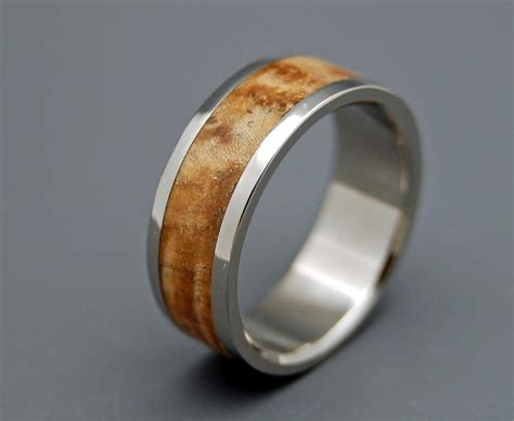 Wooden Wedding Rings Our One 5 by Wooden Wedding Rings Titanium Wedding Rings Wood Rings Mens