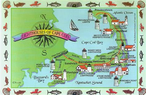 map of boston cape cod area cape cod lighthouse map flickr photo