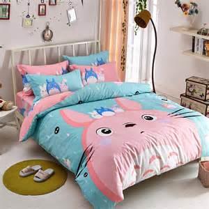 Anime Comforters Cute Totoro Students Bed Sheet Set 183 Fashion Kawaii Japan