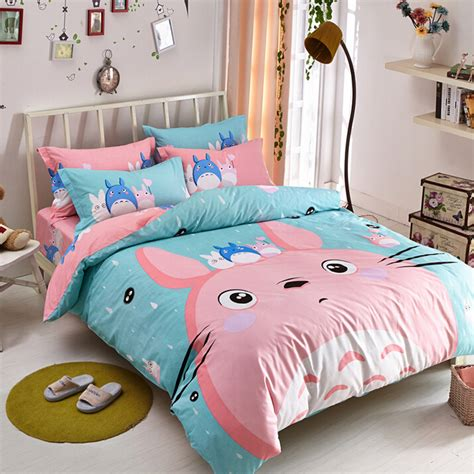 anime bedding cute totoro students bed sheet set 183 fashion kawaii japan