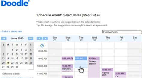 doodle terminplanung terminplaner doodle integriert