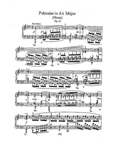 Polonaise in A-flat major Pianoforte - Spartiti