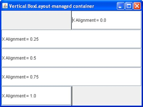 box layout manager java using a boxlayout manager boxlayout 171 swing 171 java tutorial