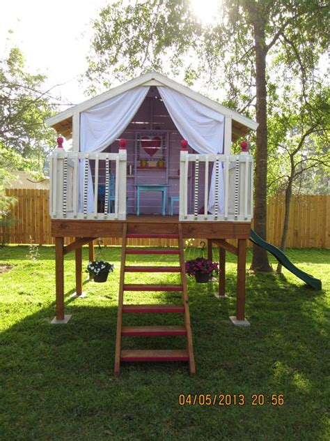 swing set with clubhouse 25 best ideas about kids clubhouse on pinterest play