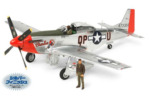 1 32 american p 51d mustang silver color plated
