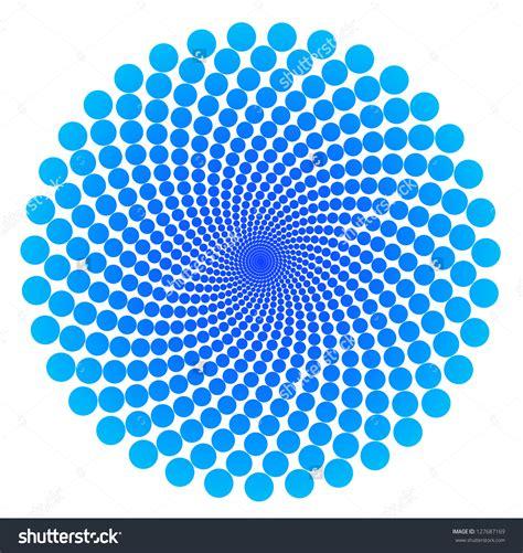 circle pattern photography dots spiral circle design pattern over white stock photo