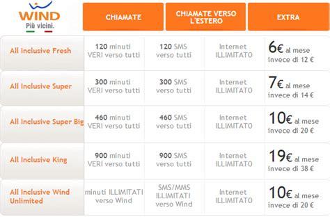 promozioni mobile wind wind le 5 offerte all inclusive con minuti sms e 2 gb