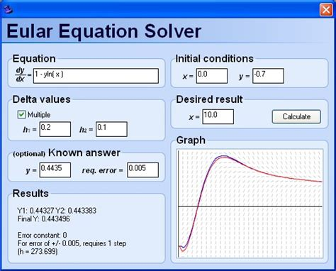 calculator equation eular equation solver download