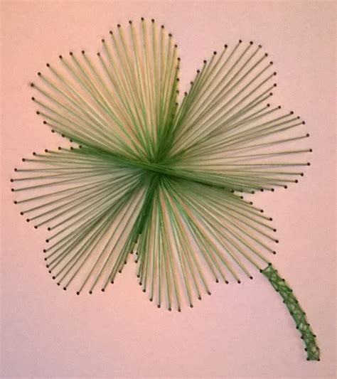 Simple String Designs - four leaf clover page michaela s string