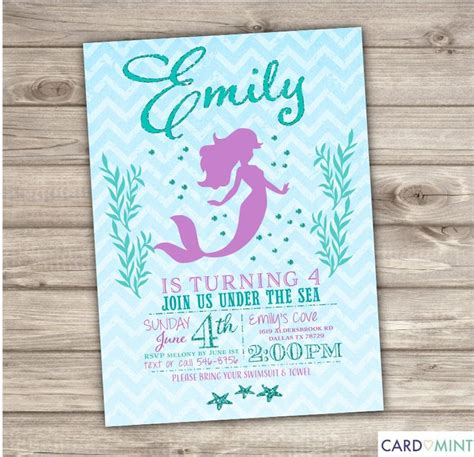 mermaid invitation template the 83 best images about the sea theme on