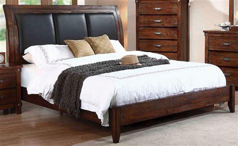 rustic platform bed noble rustic oak platform bed from coaster coleman