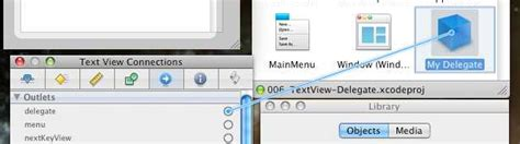 xcode delegate tutorial exle of implementing a cocoa nstextview item in xcode
