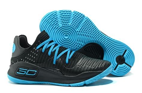 Curry 4 Black Blue 2017 cheap ua curry 4 low black and blue men s basketball