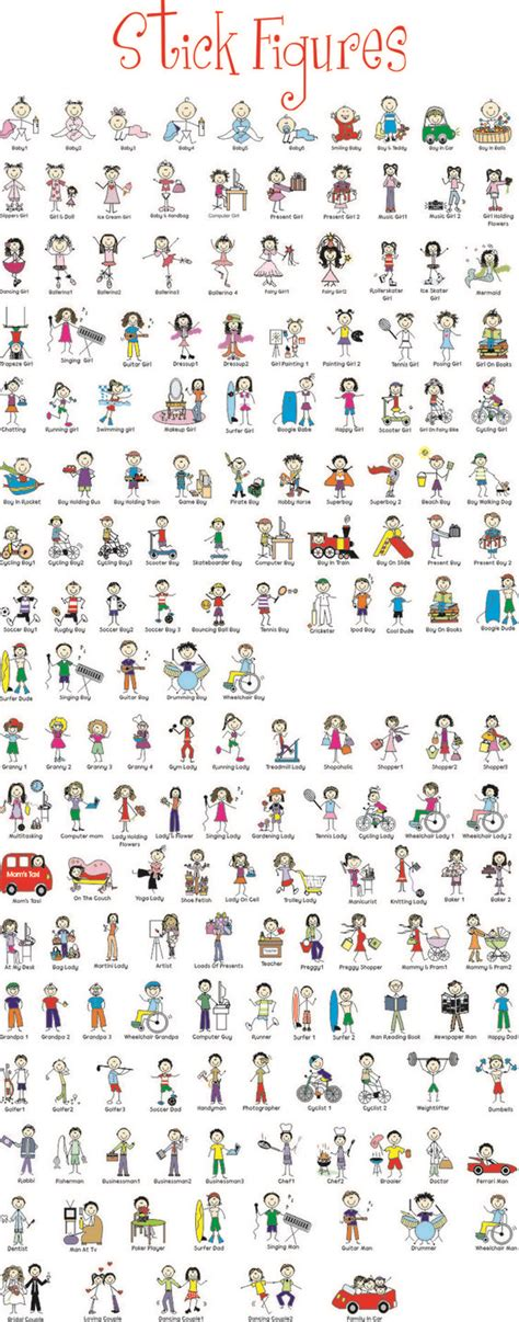 doodle dini stick figures complete dessin zendoodles
