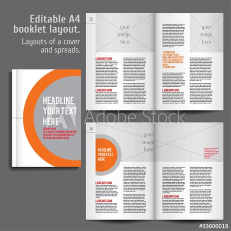 Booklet Layout Design Download | a4 booklet layout design template with cover buy this