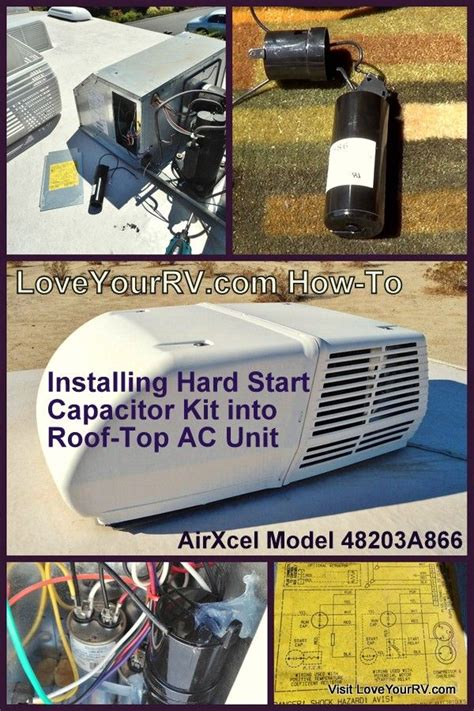 how to install a start capacitor kit installing start capacitor into my rv air conditioner