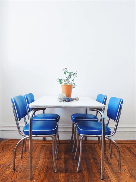 mid century kitchen chairs mid century kitchen chair set vintage blue chairs by quinncasa