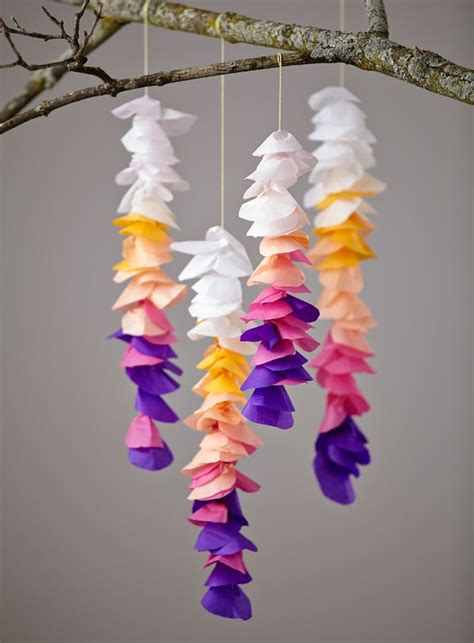 tissue paper flower garland tutorial diy tissue wisteria wisteria pets and balloon shapes