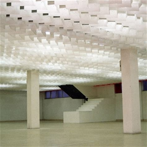 Paper Ceiling by Drop Papers Stretch Fabric Ceilings Illuminated