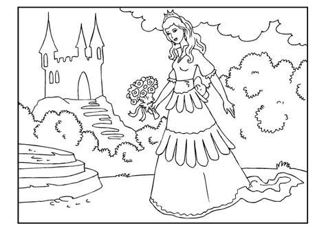 disegno da colorare principessa  fiori cat  images