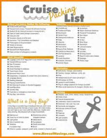 3 7 Day Cruise Packing List Cio Resumed