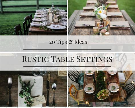 rustic dinner table settings 20 tips and ideas for rustic table settings how to simplify