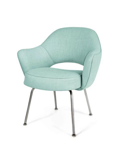 saarinen armchair saarinen for knoll executive arm chairs in powder blue woven microfiber s 6 for sale
