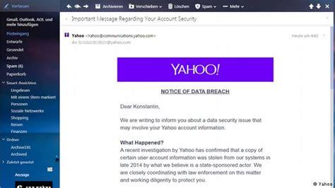 yahoo mail zugangsdaten der 500 millionen hack und die folgen wirtschaft dw