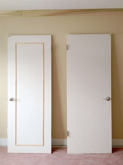 adding trim to flat cabinet doors best 25 door redo ideas on closet door redo