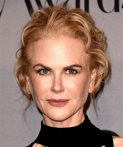 Nicole Kidman Long Wavy Casual Wedding Updo Hairstyle