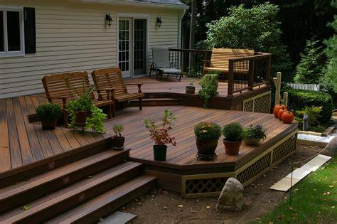 two level backyard fiberon two level deck decking