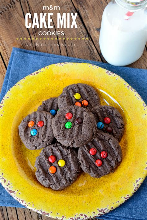 mm chocolate cake mix cookies family fresh meals