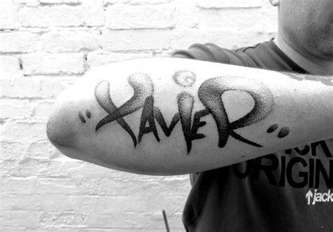 xavier tattoo fonts dotwork tag toos 171 peaceful progress 171 peaceful progress